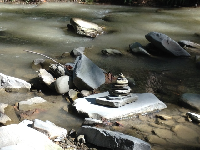 I built cairns because they're fun.