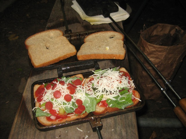 Two pizza mountain pies, coming right up!