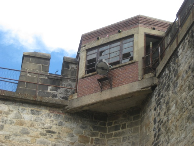 Guard tower in one corner.
